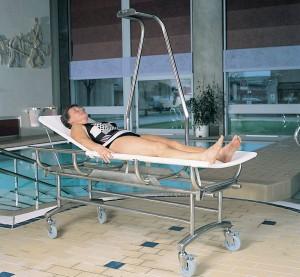 zwembad stretcher plafondlift