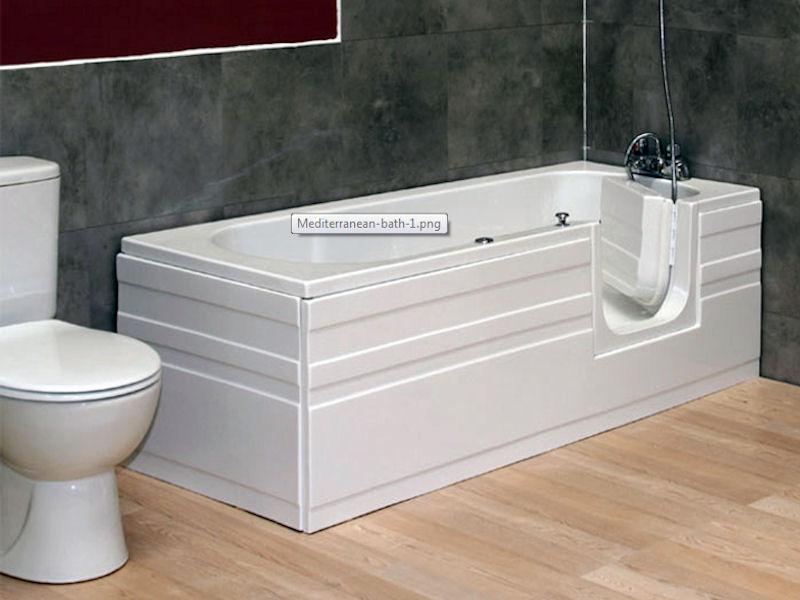 ligbad met deur Mediterean