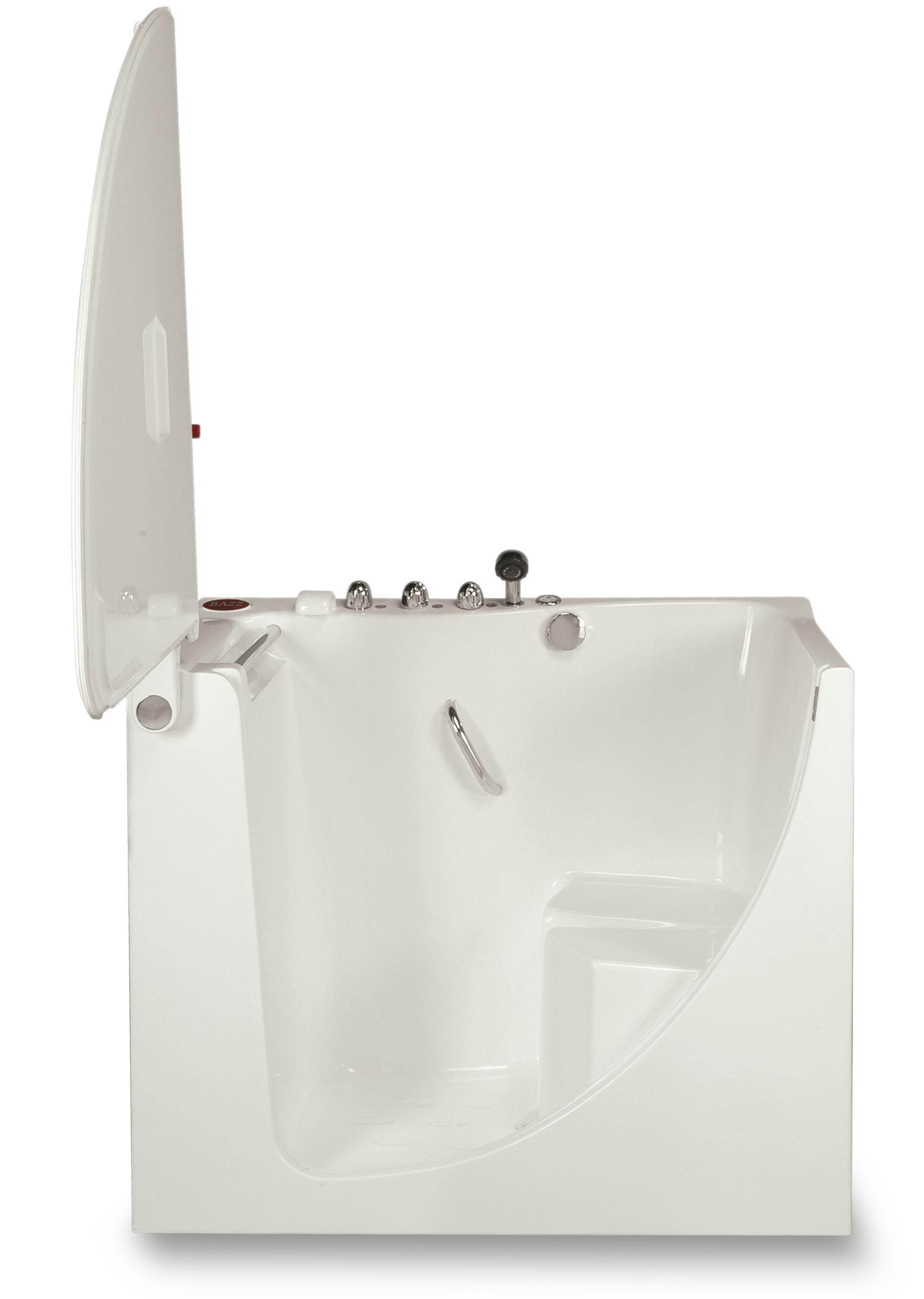 zitbad-instapbad met open deur